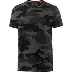 Superdry T-Shirt Herren urban grey camo