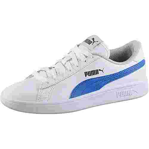 PUMA Sneaker Kinder puma white-strong blue-peacoat-gray violet