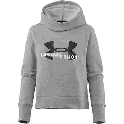 Under Armour Sportstyle Logo Hoodie Damen steel light heather-white-black