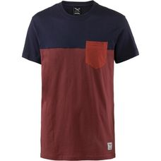 iriedaily Block Pocket 2 T-Shirt Herren dark rum
