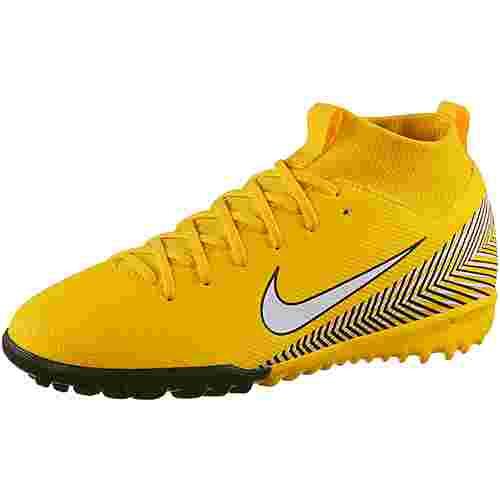 Nike MERCURIAL JR SPRFLYX 6 ACADEMY GS NJR TF Fußballschuhe Kinder amarillo-white-black-black