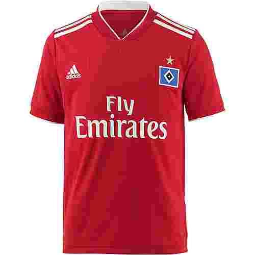 adidas Hamburger SV 18/19 Auswärts Fußballtrikot Kinder scarlet