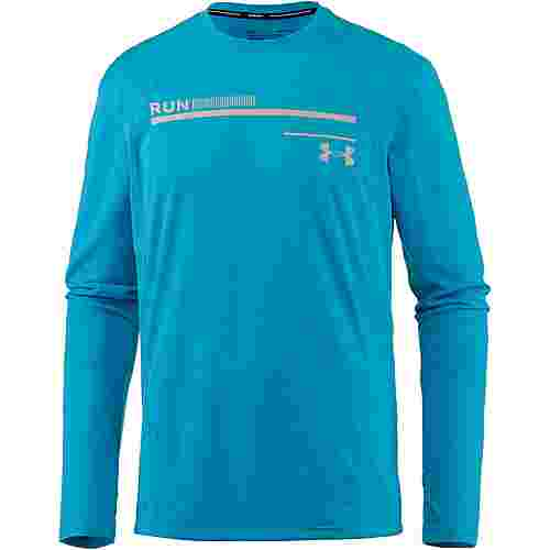 Under Armour Simple Run Graphic Laufshirt Herren deceit-ghost-gray-reflective