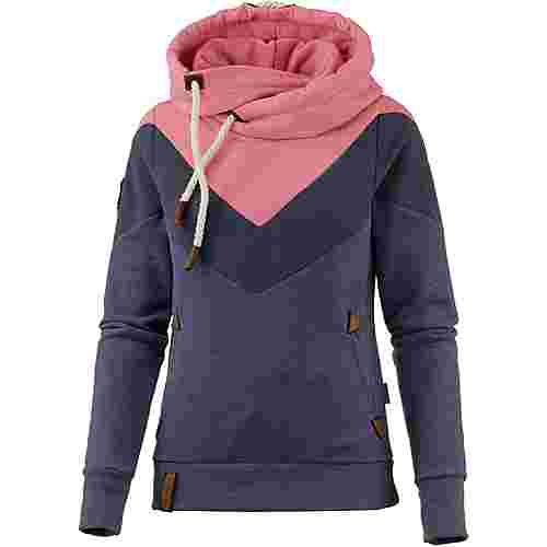 Naketano Patty immer Hände hoch Hoodie Damen bluegrey-melange II