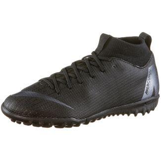 Nike MERCURIAL JR SUPERFLYX 6 ACADEMY GS TF Fußballschuhe Kinder black-anthracite-black-lt crimson