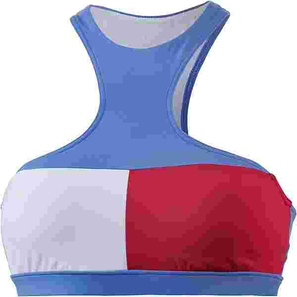 Tommy Hilfiger Bikini Oberteil Damen ultramarine blue tango red