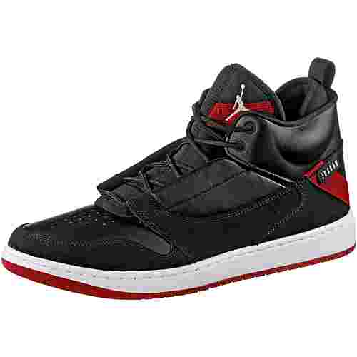 Nike JORDAN FADEAWAY Basketballschuhe Herren black-white-gym red