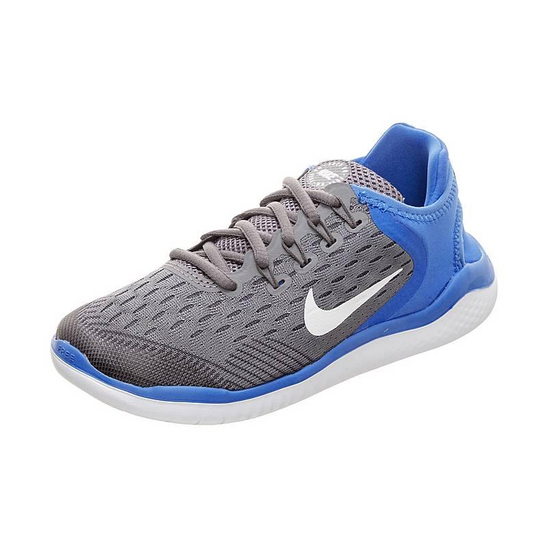 new product 23286 6f618 Nike Free RN 2018 Laufschuhe Kinder grau  blau  weiß