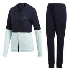 adidas Cotton Marker Track Suit Trainingsanzug Damen Legend Ink / Clear Mint Mel / White