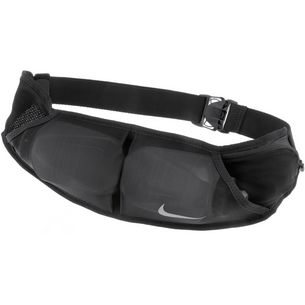 Nike Double Pocket Flask Belt 591ml Trinkflaschengurt black-black-silver