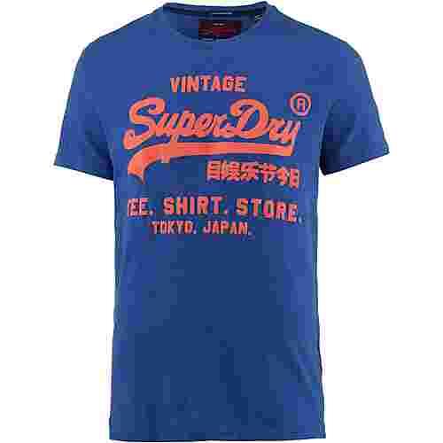 Superdry T-Shirt Herren portland cobalt grit