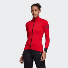 adidas Climaheat Cycling Winter Funktionsshirt Damen Scarlet