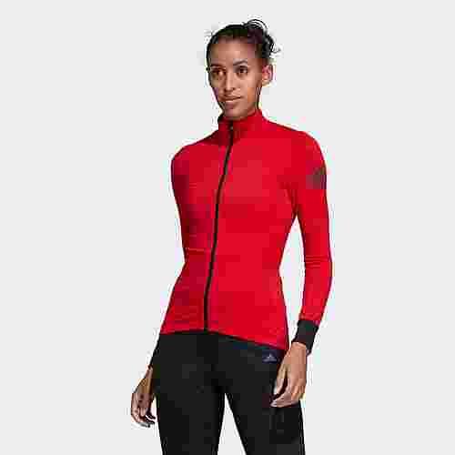 adidas Climaheat Cycling Winter Trikot Langarmshirt Damen Scarlet
