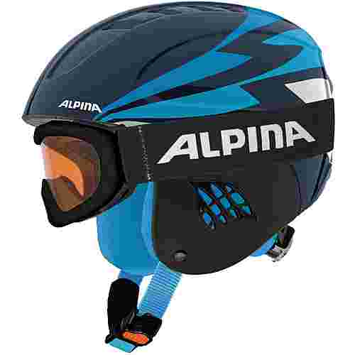 ALPINA CARAT SET Skihelm Kinder nightblue