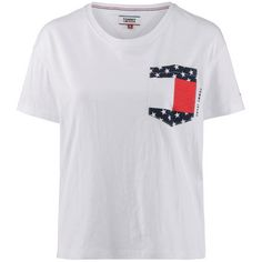 Tommy Jeans Pocket Tee T-Shirt Damen bright-white