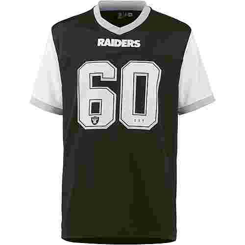 New Era Oakland Raiders V-Shirt Herren black-optic white