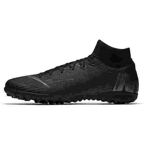 Nike MERCURIAL SUPERFLYX 6 ACADEMY TF Fußballschuhe black-anthracite-black-lt crimson