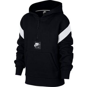 Nike Hoodie Kinder black-white