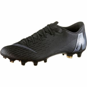 Nike MERCURIAL VAPOR 12 ACADEMY MG Fußballschuhe Herren black-anthracite-black-lt crimson