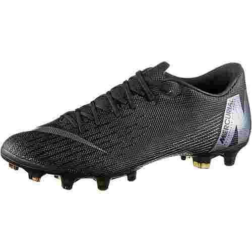 Nike MERCURIAL VAPOR 12 ACADEMY MG Fußballschuhe black-anthracite-black-lt crimson