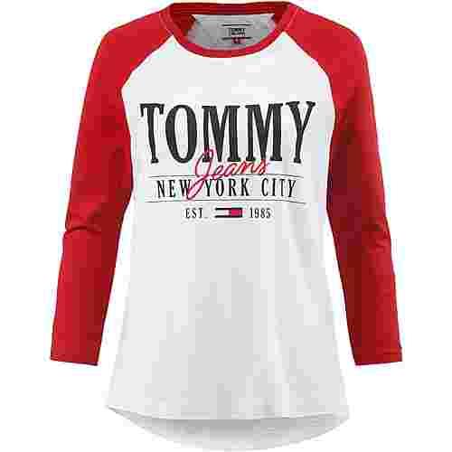 Tommy Jeans Raglan Logo Langarmshirt Damen samba