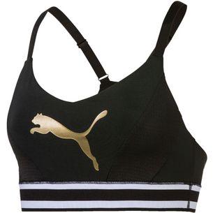 PUMA Logo Sport-BH Damen puma black-gold cat