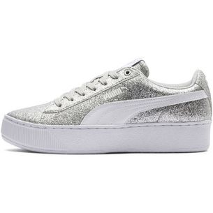 PUMA Sneaker Kinder puma silver-puma white-gray violet