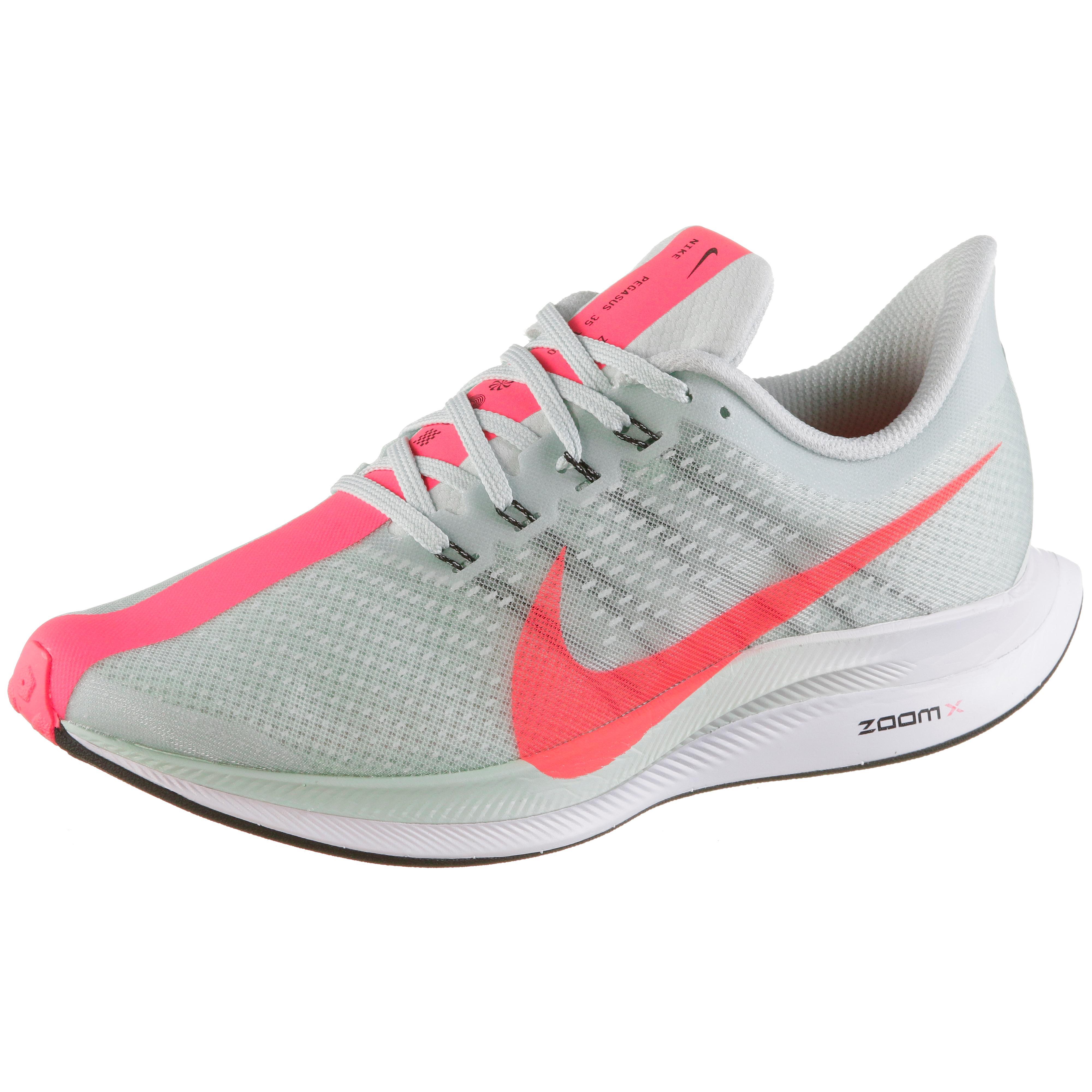 Nike ZOOM PEGASUS 35 TURBO Laufschuhe Damen barley grey-hot  punch-black-white im Online Shop von SportScheck kaufen