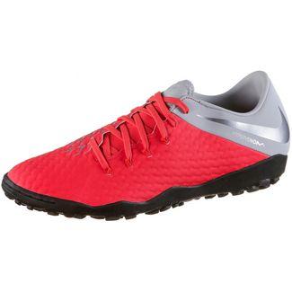 Nike HYPERVENOM 3 ACADEMY TF Fußballschuhe lt crimson-mtlc dk grey-wolf grey-mtlc silver