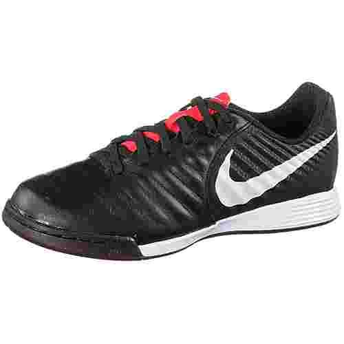 Nike TIEMPO JR LEGENDX 7 ACADEMY IC Fußballschuhe Kinder black-pure platinum-lt crimson