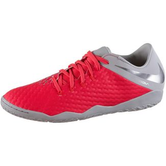 Nike HYPERVENOM 3 ACADEMY IC Fußballschuhe lt crimson-mtlc dk grey-wolf grey-mtlc silver