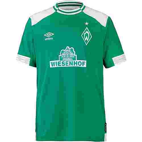 UMBRO Werder Bremen 18/19 Heim Fußballtrikot Kinder golf green-brilliant white