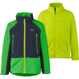 Regatta Hydrate II 3-in-1 Doppeljacke Kinder fairway green-navy-lime punch