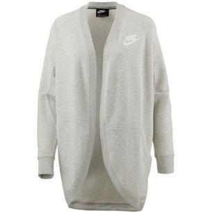 Nike Rally Sweatjacke Damen grey heather-pale grey-white
