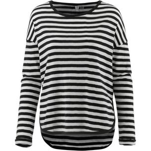 Roxy Langarmshirt Damen TRUE BLACK BIG SIMPLE STRIPE