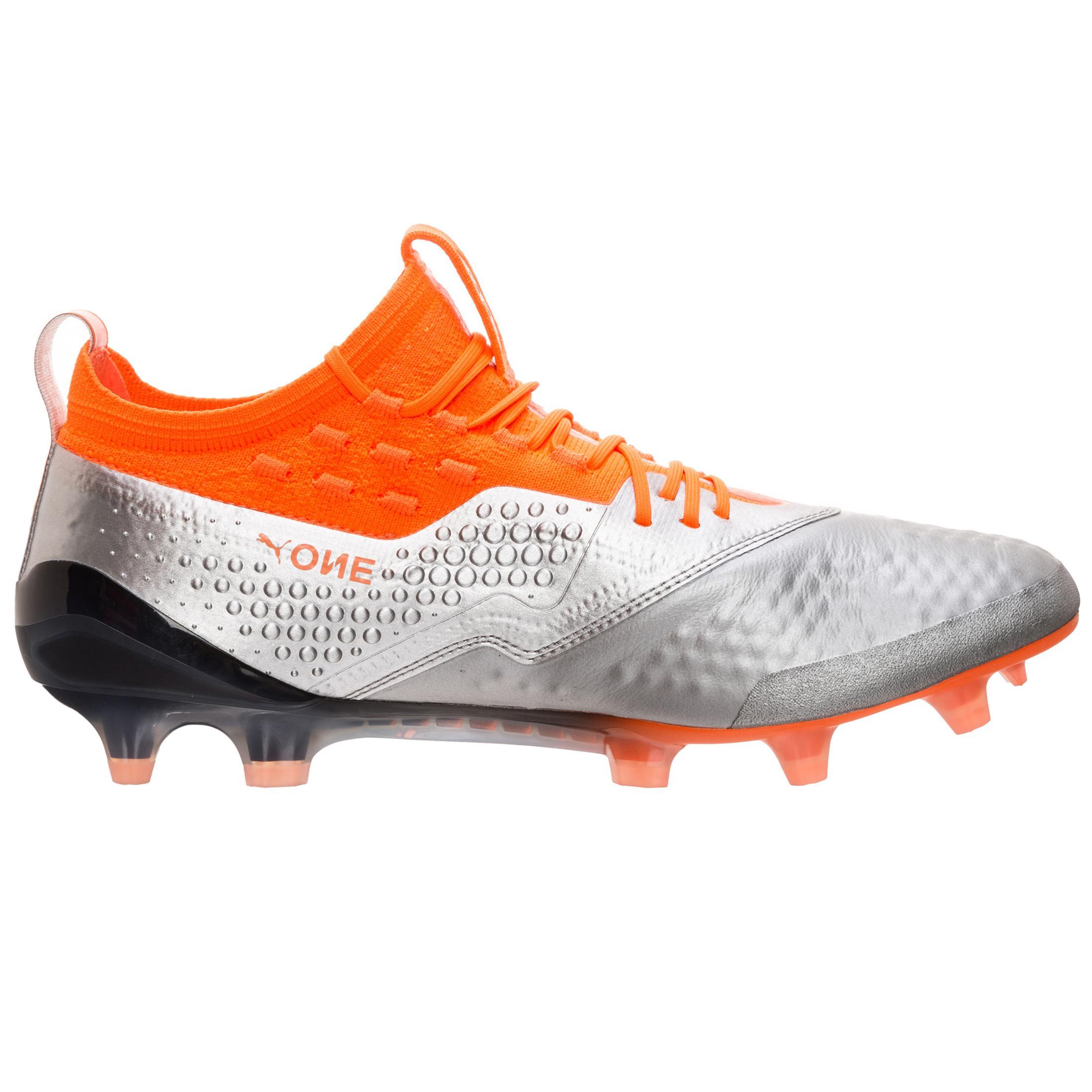 PUMA Puma ONE ONE ONE 1 Fußballschuhe Herren silber / neon orange im Online Shop von SportScheck kaufen Gute Qualität beliebte Schuhe 620e2b