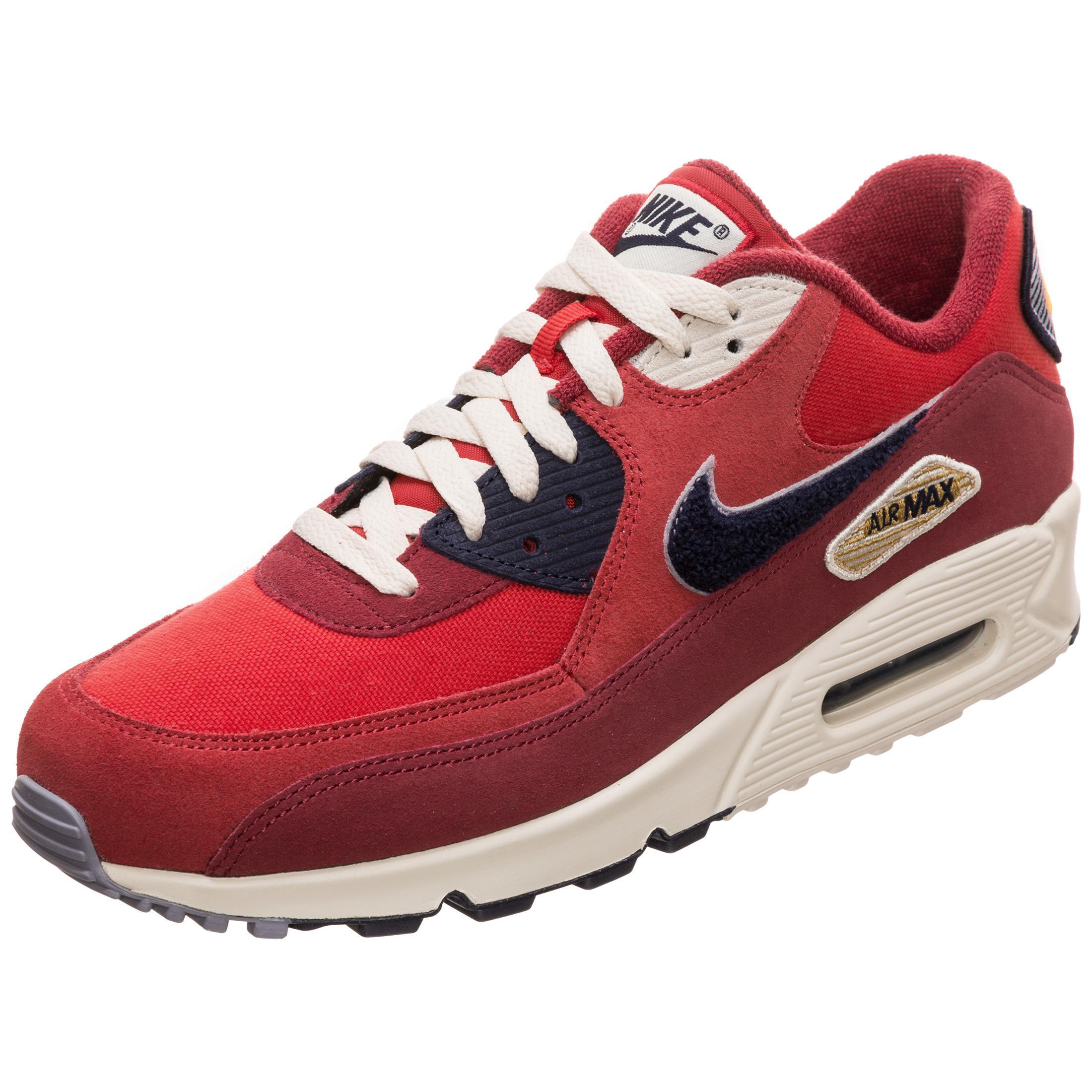 wholesale dealer popular brand great fit Nike Air Max 90 Premium SE Sneaker Herren rot / blau im Online Shop von  SportScheck kaufen