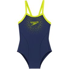 SPEEDO Badeanzug Kinder navy lime punch