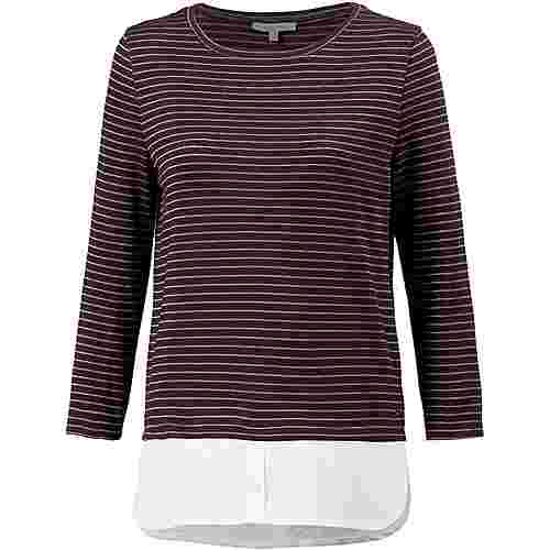 TOM TAILOR 2-in-1 Langarmshirt Damen dark red wine