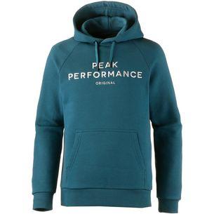 Peak Performance Logo Hoodie Herren teal extreme
