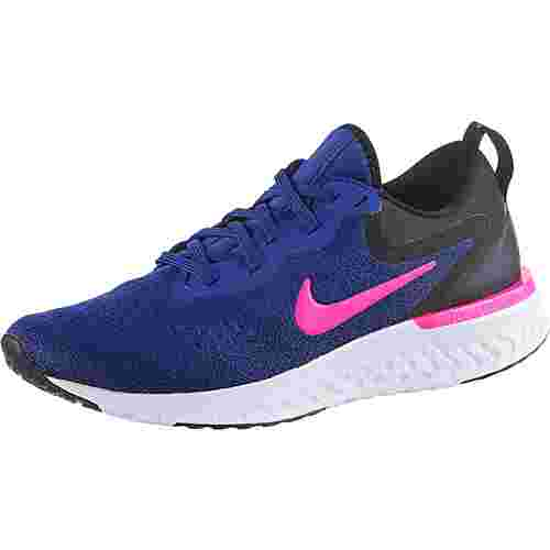 Nike Glide React Laufschuhe Damen deep-royal-blue-pink-blast-black-white