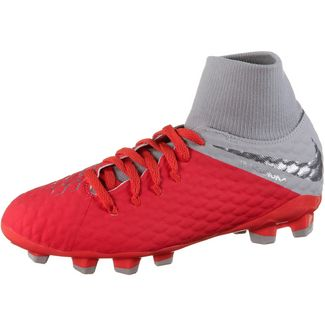 Nike JR HYPERVENOM 3 ACADEMY DF FG Fußballschuhe Kinder lt crimson-mtlc dk grey-wolf grey-mtlc silver