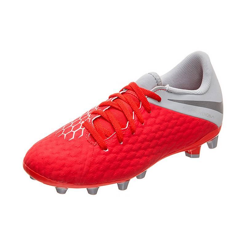 sports shoes 93b9e a1a11 Nike Hypervenom Phantom III Academy AG-Pro Fußballschuhe Kinder rot  grau