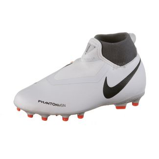 Nike JR Phantom JR VSN ACADEMY DF FG/MG Fußballschuhe Kinder wolf grey-mtlc dk grey-dk grey-lt crimson-pure platinum