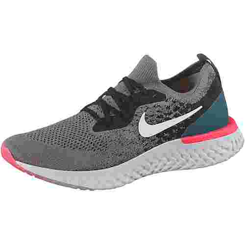 Nike EPIC REACT FLYKNIT Laufschuhe Herren gunsmoke-white-black-geode-tea