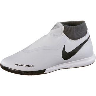 Nike Phantom VSN ACADEMY DF IC Fußballschuhe wolf grey-mtlc dk grey-dk grey-lt crimson-pure platinum