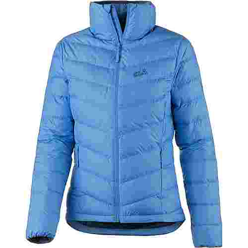 jack wolfskin helium high daunenjacke damen zircon blue im online shop von sportscheck kaufen. Black Bedroom Furniture Sets. Home Design Ideas