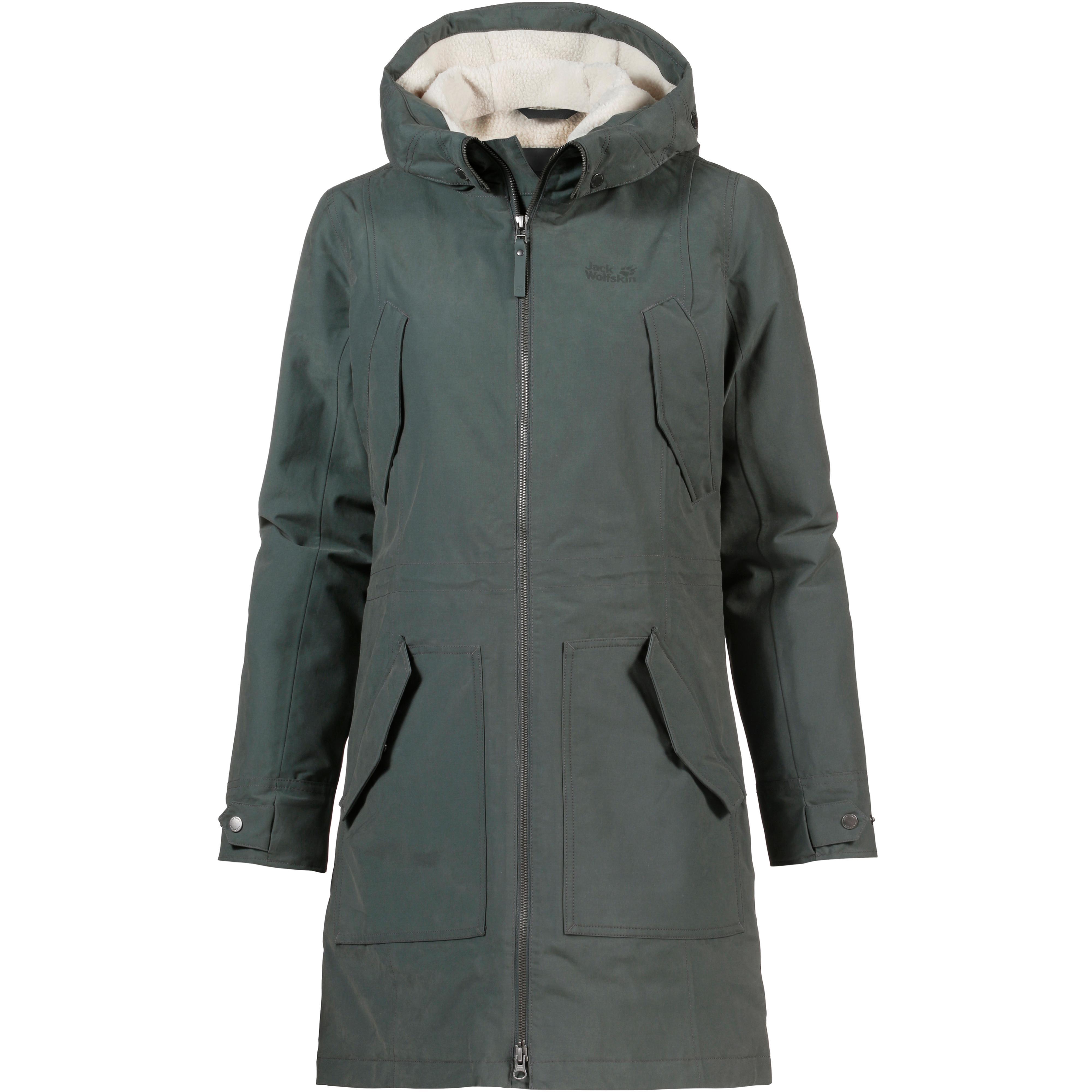 Jack Wolfskin Rocky Point Parka Damen greenish grey im Online Shop von SportScheck kaufen