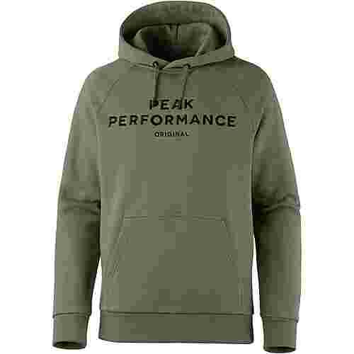 Peak Performance Logo Hoodie Herren leaflet green