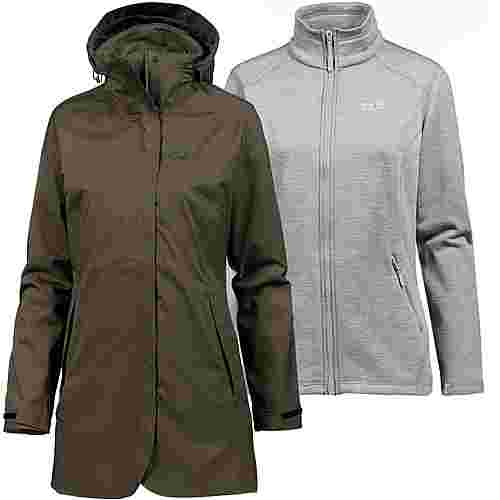 Jack Wolfskin Ruunaa 3in1 Doppeljacke Damen grape leaf